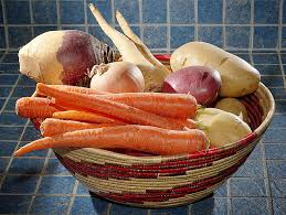 Carrots onions and potatoes